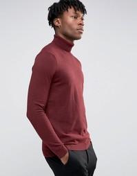 Джемпер с отворачивающимся воротником Burton Menswear - Красный