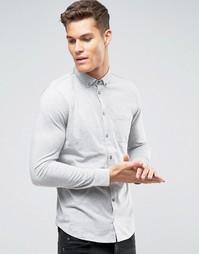 Футболка-поло из трикотажа с длинными рукавами Burton Menswear - Серый