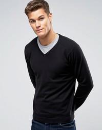 Джемпер с V-образным вырезом Burton Menswear - Черный