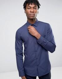 Темно-синяя рубашка узкого кроя Burton Menswear - Темно-синий