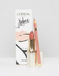Набор для макияжа губ LOreal Smoking Nudes By Kristina Bazan - Мульти