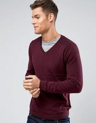 Джемпер с V-образным вырезом Burton Menswear - Красный