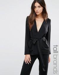 Блейзер-кимоно с отделочной строчкой Vero Moda Tall - Черный