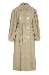 Пальто из хлопка и шерсти Simone Rocha