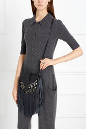 Кожаная сумка с мехом пони GAMINE Grace Atelier De Luxe