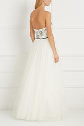 Платье-бюстье с вышивкой Natasha Bovykinа