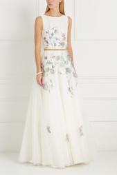 Платье с принтом Natasha Bovykinа