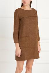 Платье из шерсти и льна SUGI Caramel