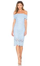 Кружевное платье с открытыми плечами squiggle - NICHOLAS