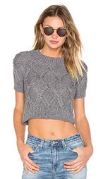 Укороченный свитер рельефной вязки santilla - AYNI
