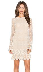 Украшенное цельнокройное платье с длинным рукавом - Ganni