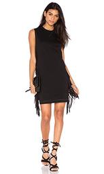 Платье с бахромой на рукавах - McQ Alexander McQueen