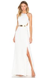 Платье с асимметричными шлейками - Halston Heritage