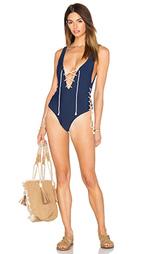 Цельный купальник на шнуровке captain - Aila Blue