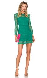Цельнокройное платье с мозаичными кружевами - Cynthia Rowley