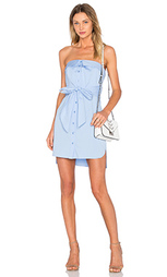 Платье-рубашка с завязкой без бретелек - MILLY