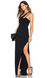 Вечернее платье с высоким вырезом и перекрестными шлейками - Donna Mizani