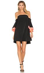 Платье с широким рукавом mila - MILLY