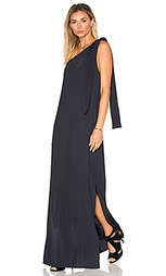 Драпированное макси платье на одно плечо - Lenny Niemeyer