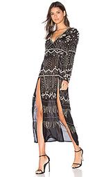 Макси платье с украшением - Tessora