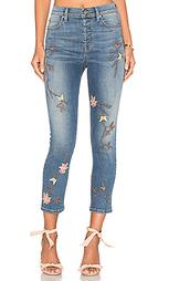 Прямые джинсы с вышивкой высокой посадки riley - Level 99