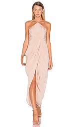 Шелковое длинное платье в мелкий рубчик - Zimmermann