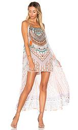 Макси платье с длинным оверлеем - Camilla