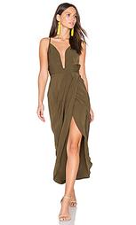 Leticia plunged wire draped maxi dress - Shona Joy