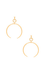 Oversized crescent hoop earrings - Luv AJ