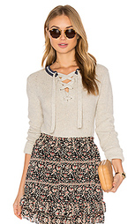 Lace up pull over sweater - Maison Scotch