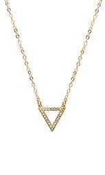 Ожерелье с треугольным подвесом покрытым 14 к золота - EIGHT by GJENMI JEWELRY