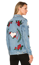 Свободная джинсовая куртка-дальнебойщика daria - GRLFRND
