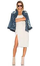 Свободная джинсовая куртка chitra - TORTOISE
