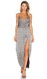 Платье со змеиным принтом и вырезом сбоку - BLQ BASIQ