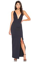 Вечернее платье из понти с запахом ava - NICHOLAS