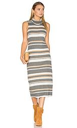 Миди платье без рукавов с широким вырезом - Michael Stars