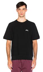 Рубашка с круглым вырезом и коротким рукавом-реглан stock - Stussy