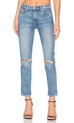 Стрейчевые джинсы высокой посадки naomi - GRLFRND