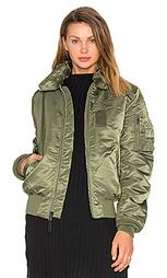 Куртка-бомбер с воротником из искусственной шерсти b-15 slim fit - ALPHA INDUSTRIES