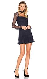Платье с квадратной горловиной web lace - NICHOLAS