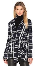 Куртка с запахом и завязкой на ремне - DEREK LAM 10 CROSBY