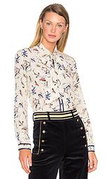 Блуза с шалевым воротником и длинным рукавом - Hilfiger Collection