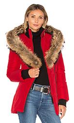 Пальто с мехом азиатского енота adali - Mackage