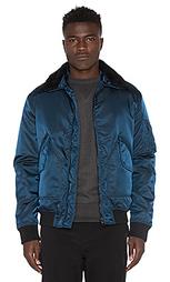 Куртка с воротником из овечьей шерсти g-1 aviator - ISAORA