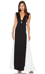Вечернее платье с колорблок - BCBGMAXAZRIA
