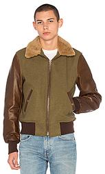 Летная куртка с воротником из овечьей шерсти b-15 - Schott