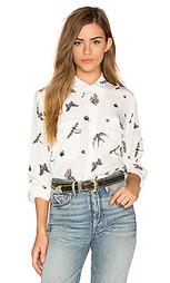 Рубашка на пуговицах с фирменным птичьим принтом - Equipment
