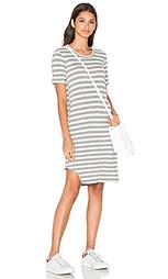 Платье с вырезом на обрезанном подоле короткий рукав baby cashmere - Wilt