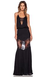 Вечернее платье с кружевными вставками - Michelle Mason