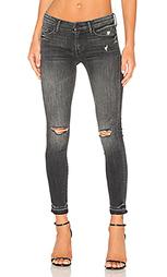 Скинни джинсы до лодыжек looker undone - MOTHER